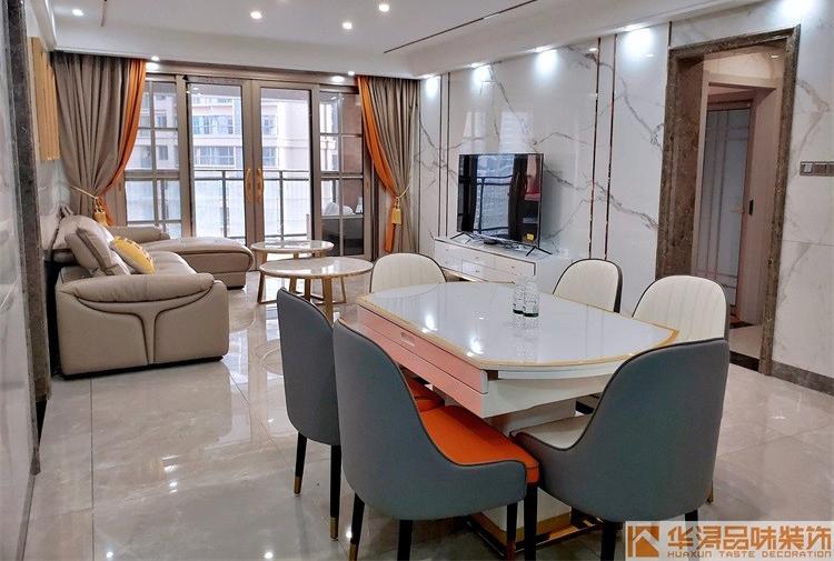 三居室现代轻奢幸福湖畔实例设计