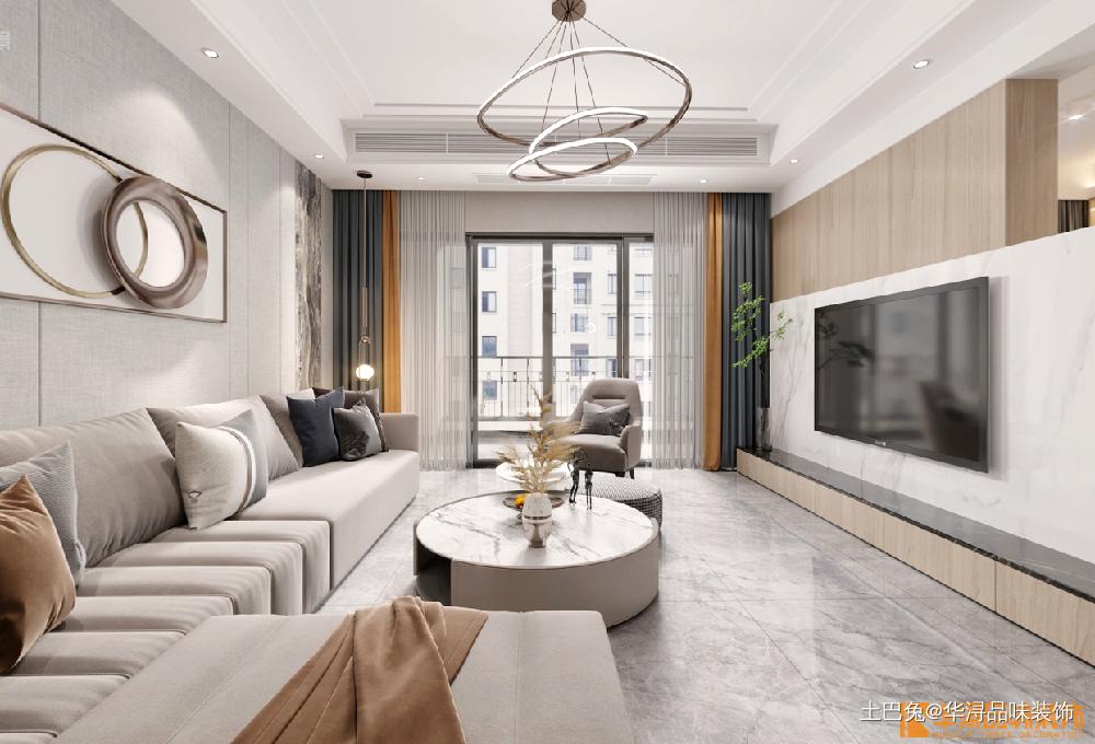 142方四居室现代简约众鑫国际平台登录风格